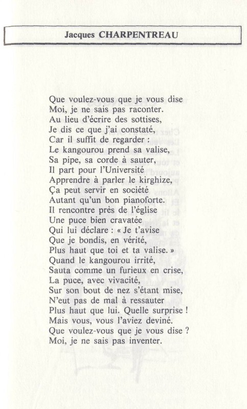 POEME DE JACQUES CHARPENTREAU