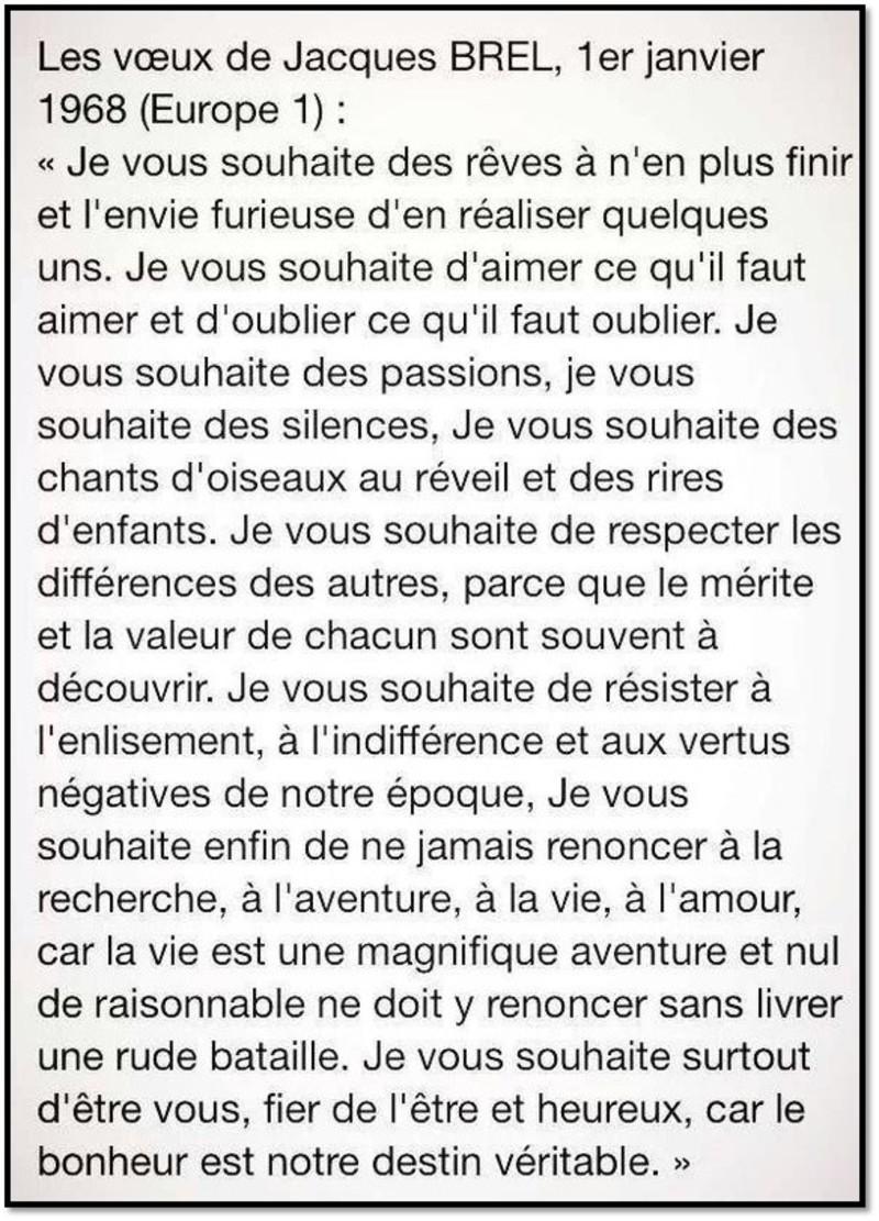 Les Voeux De Jacques Brel Il Y A 50 Ans